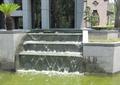 台阶水景,跌水景观,水池,景观树,住宅景观