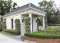 门卫室,壁灯,灌木丛,路灯,景观树,住宅景观