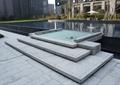 水池,水池水景,台阶踏步,地面铺装,树池
