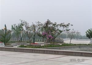 九联广场景观规划设计cad施工详图(含实景效果图)