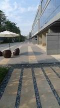 园路,阳伞,桌椅,地面铺装
