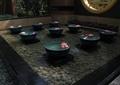 卵石水池,水钵,水池壁,景墙,景墙图案