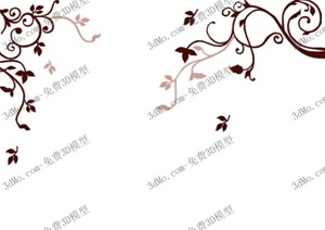 20个好模型墙绘花纹设计3DMAX模型