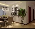 餐桌椅,花瓶插花,盆栽植物,装饰画,餐厅