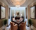 麻将桌,盆栽植物,吊灯,装饰画,背景墙,娱乐空间
