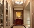 走廊,地面铺装,边柜,装饰画,吊灯,别墅空间