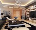 桌子,沙发,沙发茶几,电视,电视柜,电视背景墙,吊灯
