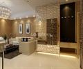 玄关,镜面墙,沙发组合,装饰画,水晶吊灯