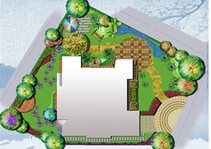 别墅庭院彩色平面图制作初级教程