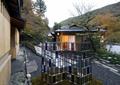 日式酒店庭院景观,玻璃小品,枯山水