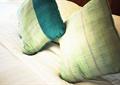 绿色抱枕,软装设计