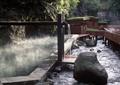 温泉水池景观,跌水景观,木栈道,山谷景观