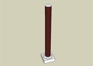 古典中式柱子设计SU(草图大师)模型