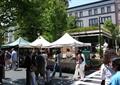商业街,广告帐篷