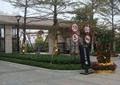 小区入口景观,小区入口大门,种植池,标志牌