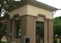 小区入口景观,门卫室,刷卡机