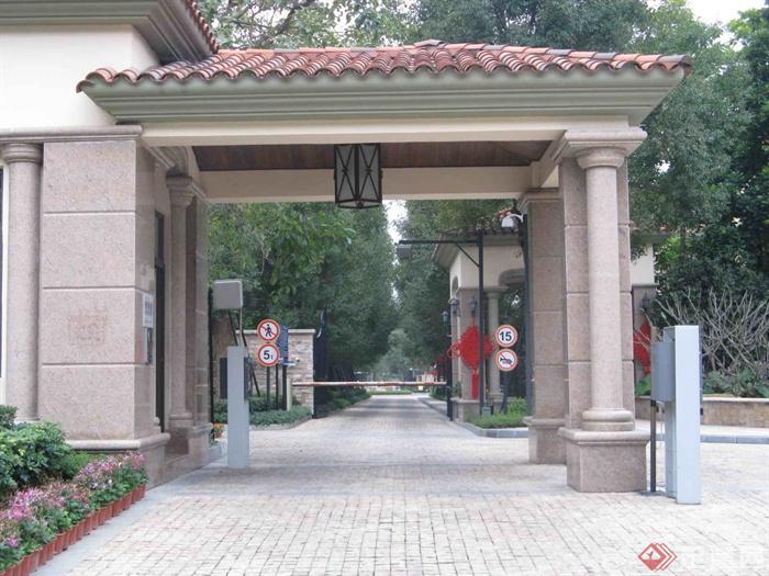 小区入口,门廊,门卫室,大门