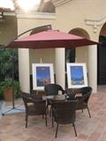 休息区,遮阳伞,桌椅