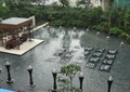 水池景觀,雕塑小品,文字圖案小品,噴水柱,水中觀景臺