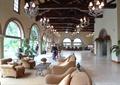 售楼部,休息区,沙发组合,茶几,花钵,拱形门洞