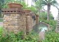 小區入口景觀,景墻水池,樹池