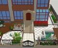 庭院景觀,庭院花園,涼亭,圍欄,木平臺,遮陽傘