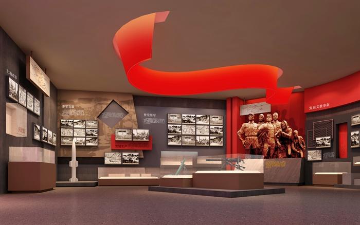 某紅色革命展廳3D模型