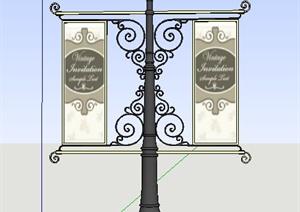 商业街路灯设计SU(草图大师)模型