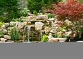 跌水景观,跌水池,假山石头