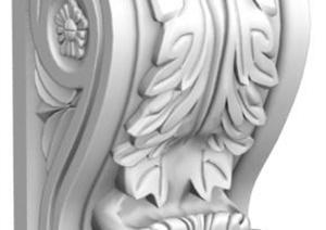 古典中式雕花景观柱3D模型