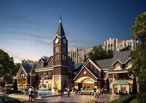 欧式风格住宅建筑设计JPG实景图
