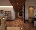 門廳,走廊,隔斷屏風,書架