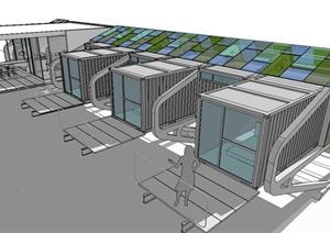 创意办公工作室建筑设计SketchUp模型