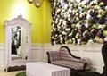 顾客休息区,桌椅,镜子,吊灯