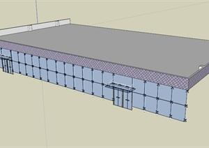 某建筑节点玻璃幕墙设计SU(草图大师)模型