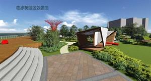 上海某学院校园景观主轴绿化改造设计