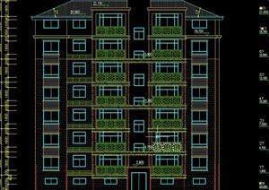 七层框架住宅设计CAD结构施工图