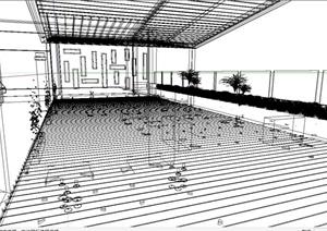 酒店咖啡吧室内设计SU(草图大师)模型