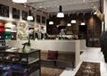 商店设计,商店展示,座椅,展示柜,展示架,吊灯