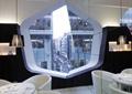 商店设计,商店展示,休息区,休息桌椅,窗户,吊灯