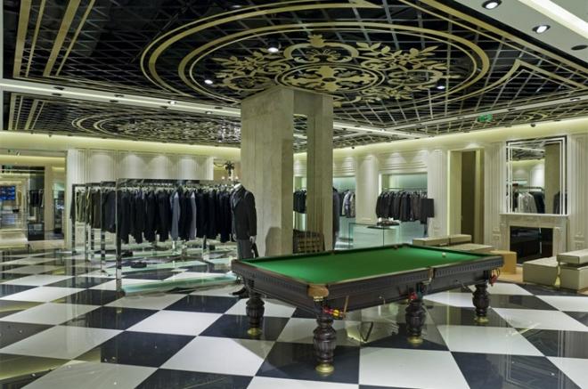 服装店,台球桌,天花吊顶