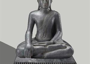 8款佛像雕塑设计SU(草图大师)模型