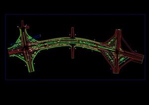 某高速公路景观规划设计cad方案图
