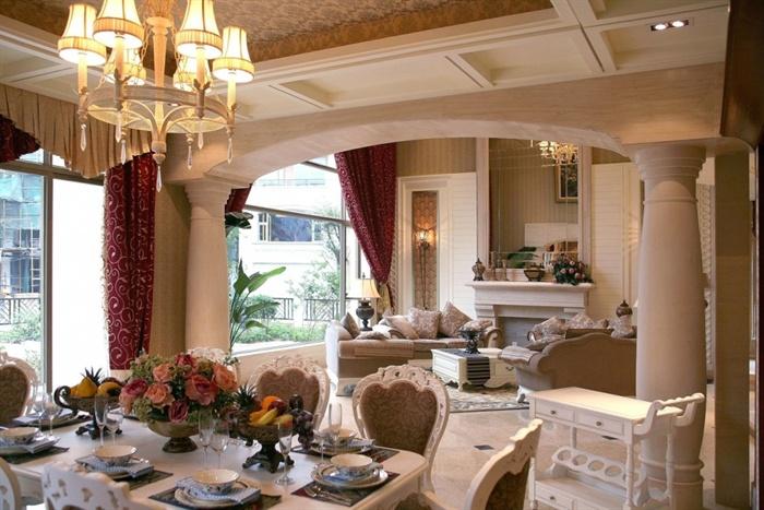 美式古典别墅室内设计施工图附实景照片6