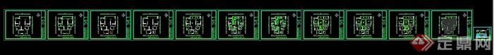 现代某住宅空间室内装修设计CAD施工图(效果图)(5)