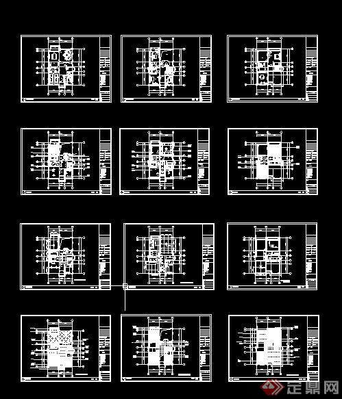 美式古典别墅室内设计施工图附实景照片(7)