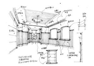 欧式室内设计手绘方案图