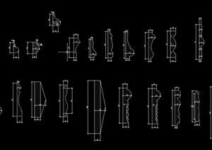 室内建筑节点装饰线设计CAD图