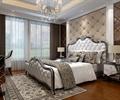 臥室設計,床,地毯,墻面軟包,床頭柜