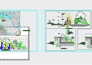 21款假山置石设计CAD图